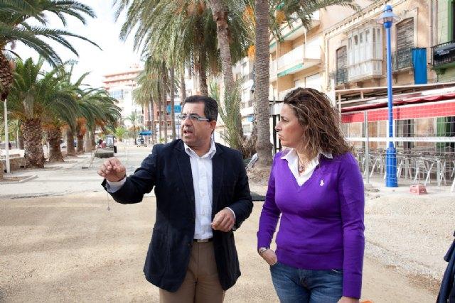 Las obras de los nuevos paseos marítimos del Puerto de Mazarrón avanzan a buen ritmo, Foto 3