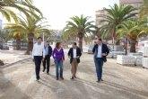 Las obras de los nuevos paseos mar�timos del Puerto de Mazarr�n avanzan a buen ritmo