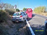 Detienen a un individuo por un presunto delito contra la seguridad del trafico tras sufrir un grave accidente al salirse de la via