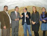 El delegado del Gobierno, el alcalde de Puerto Lumbreras y la directora general de Turismo visitan las obras del Castillo de Medina Nogalte