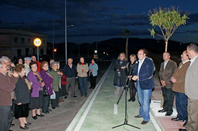 El Alcalde inaugura el acceso a Puerto Lumbreras desde la Carretera D19 de Águilas tras las obras de remodelación y su conversión en una nueva avenida - 1, Foto 1