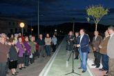 El Alcalde inaugura el acceso a Puerto Lumbreras desde la Carretera D19 de Águilas tras las obras de remodelación y su conversión en una nueva avenida