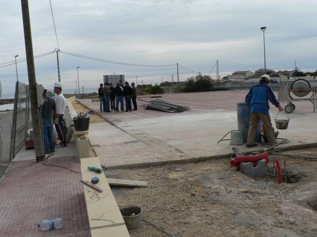 Las pistas deportivas de Cañada de Gallego en plena ejecución, Foto 1