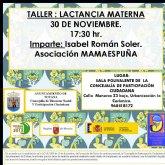 El taller de 'lactancia materna' se impartirá el próximo 30 de noviembre