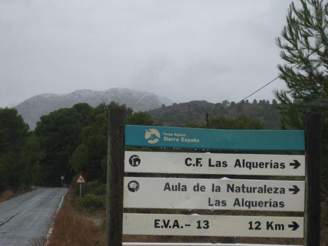 La nieve ha empezado a cuajar a partir de la altura del Collado del Pilón y en la zona del EVA 13 de Sierra Espuña - 4, Foto 4