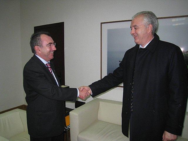 Manuel Campos recibe al alcalde de Abarán - 2, Foto 2