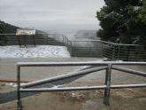 La nieve ha empezado a cuajar a partir de la altura del Collado del Pil�n y en la zona del EVA 13 de Sierra Espuña