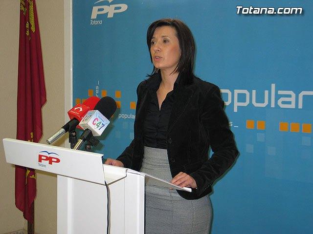 La portavoz del Grupo Municipal Popular, Josefa María Sánchez, en una foto de archivo / Totana.com, Foto 1