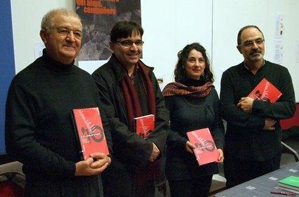 Tovar, Campillo, Martínez y Hernández, esta mañana. J. P., Foto 1