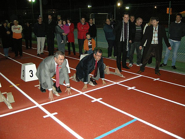 El delegado del Gobierno y el alcalde de Mazarrón inauguran nuevas instalaciones en el Polideportivo Municipal, Foto 1