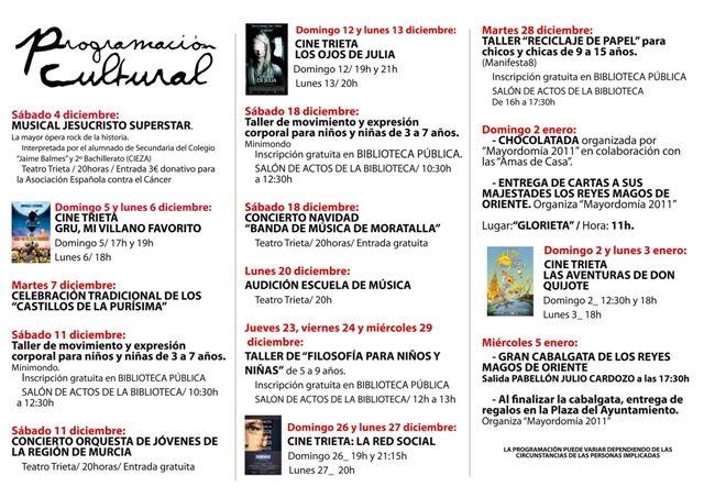 Programación cultural Navidad en Moratalla 2010/2011 - 3, Foto 3