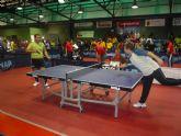 Los alumnos deportistas del Centro Ocupacional Jos� Moya participan en el campeonato regional de tenis de mesa