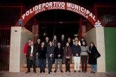 Inaugurada la remodelaci�n de las pistas del Polideportivo Municipal de Mazarr�n, que llevar� el nombre del totanero Jes�s C�novas Valenzuela