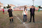 Los juveniles del Mazarr�n Club de F�tbol celebran su partido m�s simb�lico