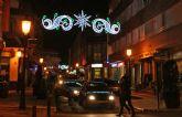 Las luces de Navidad ya iluminan el centro urbano de Puerto Lumbreras con iluminación tipo lead para favorecer el ahorro energético