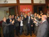El Alcalde de Murcia y los concejales brindan por la Navidad