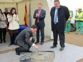 Colocan la primera piedra en la nueva rotonda de acceso al polígono industrial de La Unión