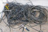 La Guardia Civil sorprende a una persona sustrayendo cableado eléctrico en San Javier
