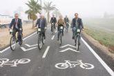 Murcia gana 25 kilómetros de carril bici que conectan la Contraparada con Beniel junto a la mota del Río Segura