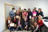 Veinte alumnos gitanos acaban sus cursos laborales organizados por Servicios Sociales y Secretariado Gitano