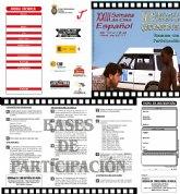Bases del Certamen Nacional de Cortometrajes de la XXIII Semana de Cine Español de Mula
