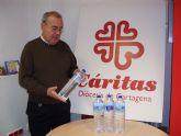 La empresa de agua mineral natural Aquadeus donar� agua a C�ritas durante el pr�ximo año