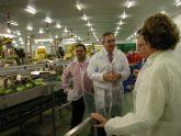 Visita del delegado del Gobierno a Frutas El Dulze