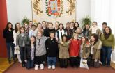 Los jóvenes noruegos de intercambio con el Jiménez de la Espada, encantados con Cartagena