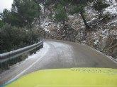 La nieve obliga a cortar el acceso al tr�fico rodado en algunas zonas del Parque Regional de Sierra Espuña