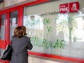El PSOE condena las pintadas en su sede y en la del PP porque demuestran 'falta de respeto a las ideas y organizaciones políticas democráticas'