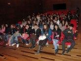 Alumnos de Teruel y Soria trazan en La Unión la ´Ruta literaria´ de María Cegarra