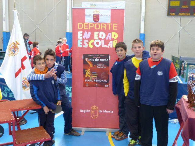 El equipo alguaceño del colegio Nuestra Señora del Carmen se hace con la medalla de bronce en campeonato de tenis de mesa - 1, Foto 1