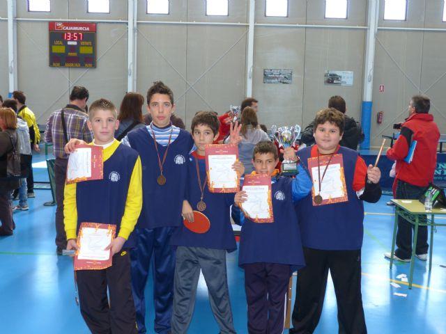 El equipo alguaceño del colegio Nuestra Señora del Carmen se hace con la medalla de bronce en campeonato de tenis de mesa - 2, Foto 2