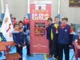 El equipo alguaceño del colegio Nuestra Señora del Carmen se hace con la medalla de bronce en campeonato de tenis de mesa