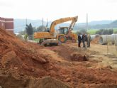 Avanzan a buen ritmo las obras para la nueva rotonda de acceso al polígono industrial de La Unión