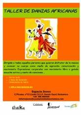 Las danzas africanas llegan al Espacio Joven