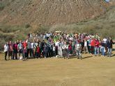 Cerca de 300 senderistas celebran en La Unión una ruta minera hasta portmán