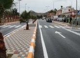 La avenida del Mediterráneo de La Unión queda abierta al tráfico tras su completa remodelación