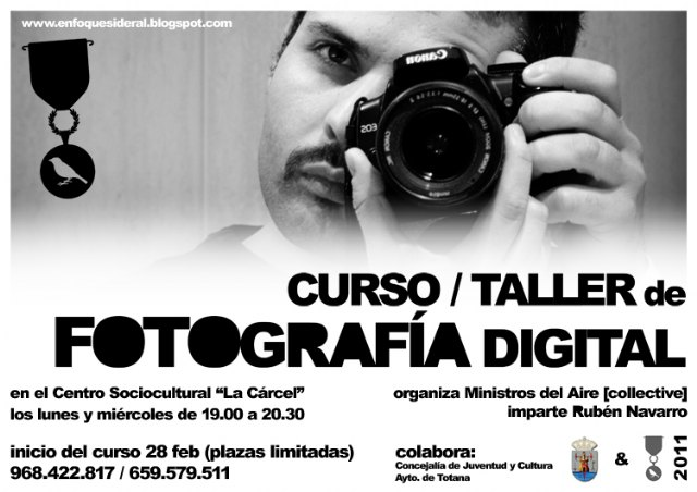 """The association """"Ministers of the Air"""" of Totana is organizing a Digital Photography"""