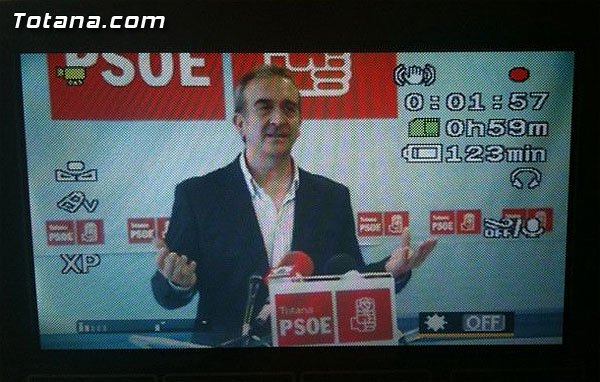 """Otálora says, """"although the PP's disqualification, will present proposals to improve Totana"""""""