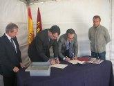 Sánchez y Ballesta ponen la primera piedra de las obras de mejora de la travesía de Santomera