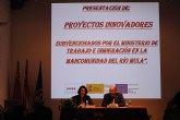 Anna Terrón visita los proyectos de la Mancomunidad de Servicios Sociales del Río Mula