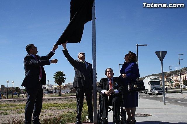 Totana dedicated a street to Victoria businessman Manuel Conesa