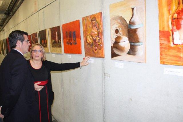 """Inaugurada la exposición del sexto aniversario del Colectivo """"ELLE ACyT"""" de mujeres pintoras de Torre-Pacheco - 1, Foto 1"""