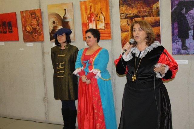 """Inaugurada la exposición del sexto aniversario del Colectivo """"ELLE ACyT"""" de mujeres pintoras de Torre-Pacheco - 2, Foto 2"""