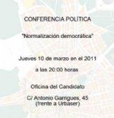 El PSOE de Totana inicia hoy el ciclo de conferencias políticas en la Oficina del Candidato