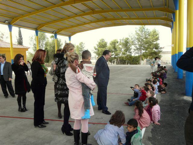 Los colegios públicos Ntra. Sra. de la Consolación y El Romeral de Molina de Segura estrenan nuevas pistas polideportivas cubiertas - 1, Foto 1