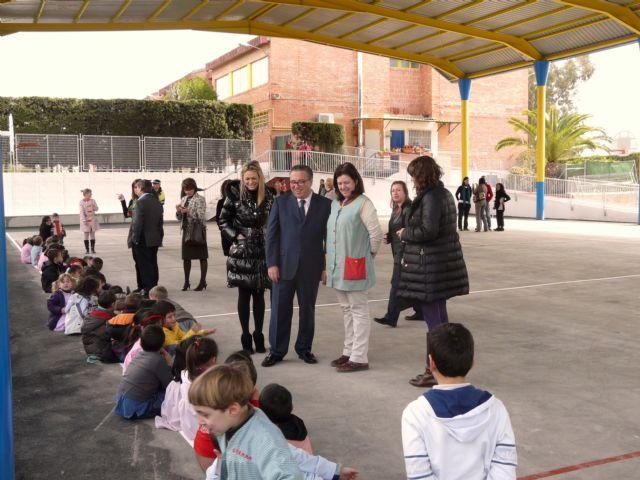 Los colegios públicos Ntra. Sra. de la Consolación y El Romeral de Molina de Segura estrenan nuevas pistas polideportivas cubiertas - 2, Foto 2