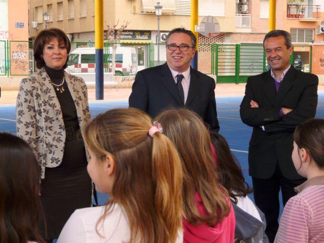 Los colegios públicos Ntra. Sra. de la Consolación y El Romeral de Molina de Segura estrenan nuevas pistas polideportivas cubiertas - 3, Foto 3