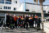 Protección Civil de San Javier colaboró con efectivos y ambulancias en el traslado de enfermos al nuevo hospital Los Arcos del Mar Menor